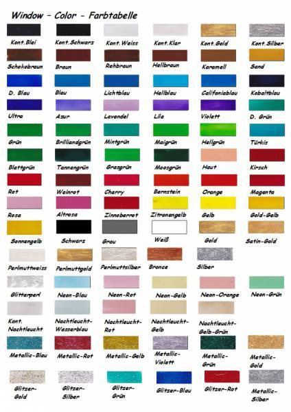 Window Color, Fenstermalfarbe 80 ml - KED-Vertrieb